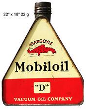 Gargoyle Mobiloil Reproduction Laser Cut Out Sign 18x22