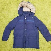 Ralph Lauren Denim Supply Feather Down Puffer Navy Parka Jacket Coat UK L Hood