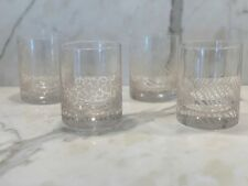 New listing Neiman Marcus 4 Frosted Patterned Bar Glasses New In Box!