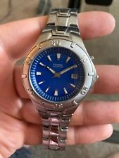 mens fossil blue watch stainless steel