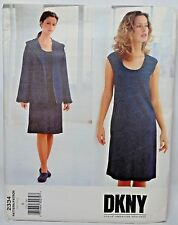 UNCUT VOGUE Pattern 2334 DONNA KARAN Hooded Jacket & Slim Dress Size 8