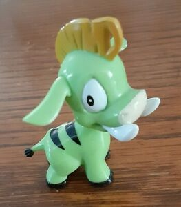 "Neopets Green Moehog Figure 2 1/4"" Tall Thinkway Toys"