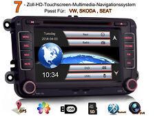"""GPS 7"""" Autoradio NAVI DVD BT Für VW Golf Passat CC Polo SKODA Fabia Combi SEAT"""