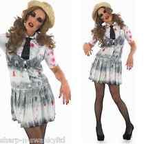 Zombie Dead School Girl Halloween Fancy Dress Costume Outfit UK 8-22 Plus Size