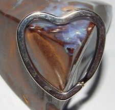AA Heart Shape Chrome Silver Plate Key Split Ring Chains Chip Coin Token