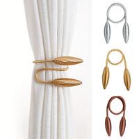 Curtain Tie Backs Holdbacks Metallic Curtain Clips Curtain Hooks for Home Office