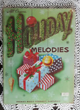 All Organs HOLIDAY MELODIES MUSIC BOOK THOMAS MUSIC COMPANY 1968 Nice!