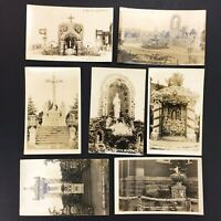 LOT fo 7 Real Photo Postcards - Grotto Dickeyville Wisconsin, 1920s Vintage RPPC