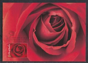 AUSTRALIA 2006 FIRST DAY COVER ROSE ON MAXI CARD