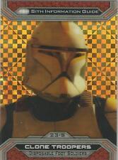 Star Wars Chrome Jedi vs Sith - 23-S X-Fractor Parallel Base Card #04/99