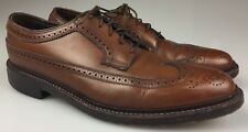 Florsheim Royal Imperial 5 Nail V Cleat Wingtip Pebbled Brown Leather Men's 10.5