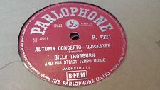 BILLY THORBURN AUTUMN CONCERTO & A WOMAN IN LOVE PARLOPHONE R4221