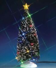 Lemax Multicolor Lighted LARGE 9 Inch EVERGREEN TREE Christmas Village