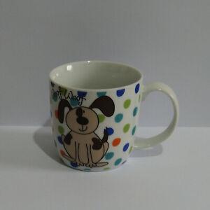 Dog Woof Woof Wagg Wagg Polka Dot Spotty Porcelain Mug