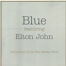 Blue Featuring Elton John – Sorry Seems To Be The Hardest Word CD Single 2002