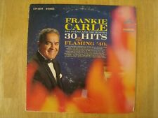 Vinyl LP Record Frankie Carle Piano & Orchestra 30 Hits Of The Flaming 40's