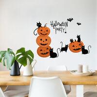 1x Cute Halloween Pumpkin Window Wall Sticker Removable Decals DIY Party Decor