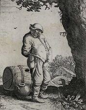 Adriaen Jansz Van Ostade Dutch 1610-1685 Etching Man Urinating