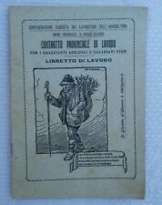 1930 VECCHIO LIBRETTO DI LAVORO PER BRACCIANTI AGRICOLI IN REGGIO CALABRIA (RC )