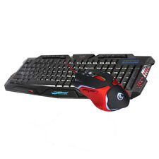 6 Buttons 3200 DPI Mouse and Ergonomic Keyboard Combo for Gaming Equipment