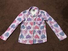 Girls Purple Long Sleeve Pajamas Shirt Top Size Xl 14/16 Joe Boxer Hearts Guc