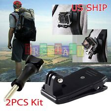 360 Rotary Backpack Hat Mounts Clip Fast Clamp Mount for GoPro Hero 2 3 3+ 4