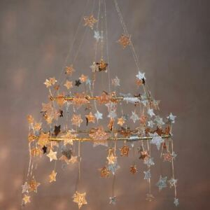 Gold Star Hanging Chandelier | Christmas Party Hanging Decoration Gift