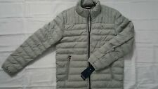 TOMMY HILFIGER MENS LIGHT HEATHER GREY QUILTED PUFF...