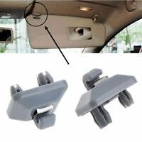 2XCar Interior Sun Visor Hook Clip Bracket For Audi Q3 Q5 Q7 A1 A3 A4 A5 Grey