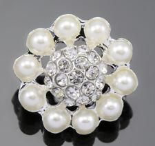 5 x 2-strand Strass Perla color avorio argento placcate MARGHERITA CONNETTORI