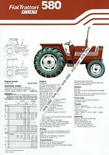 Fiat 580 tractor 2 sided A4 leaflet /Brochure 1979?