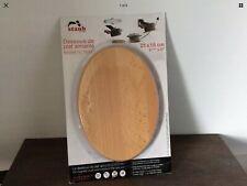 Staub Magnetic Salvamanteles Oval platillo de 21 X 15 cm Hierro Fundido cubierto de mesa Palos Para