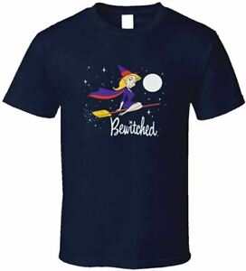 Bewitched Cartoon Witch Logo Classic Retro TV Show T Shirt