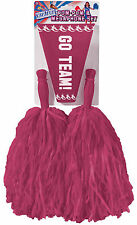 BRAND NEW PURPLE Cheerleader Pom Poms Megaphone Cheer Kit Set Costume Pompoms
