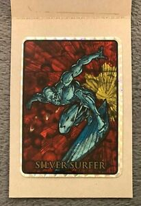 1992 Marvel Masterpieces SILVER SURFER Vending Prism Sticker Card Black Border