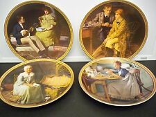 """Knowles (4) Collectors Plates """"Rockwell'S Rediscovered Women"""