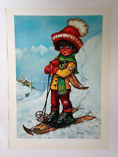 ILLUSTRATION MICHEL THOMAS POULBOT - SKI KAPUTT / EDITIONS KRISARTS 1970