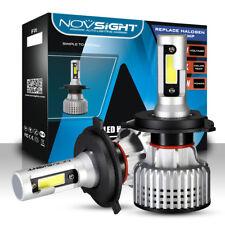 NOVSIGHT H4 HB2 9003 High Low Beam LED Car Headlight Bulbs Kit Lamps 72W 10000LM