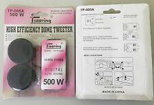 2 Pair 500 Watt Super Power Loud Dome Tweeter Speakers for Car 500W Tweeters 4Ω