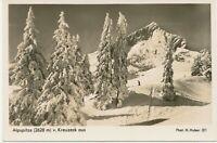 D GARMISCH-PARTENKIRCHEN 1930, Alpspitze (2628 m) vom Kreuzeck aus, ungebr. RP
