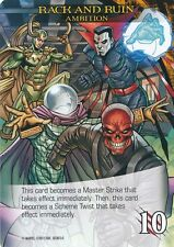 AMBITION LOKI MYSTERIO SKULL Upper Deck Marvel Legendary RACK AND RUIN