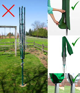 Waterproof Rotary Washing Line Airer Zip Cover Drier Protector Garden Parasol