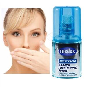 Medex 20ml Minty Fresh Breath Freshener Mouth Spray Bad Breath Long Lasting