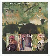 Ghana 2014 MNH World Famous Paintings 3v M/S Pissarro Childe Hassam Edgar Degas