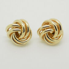 9ct Yellow Gold Knot Studs Earrings