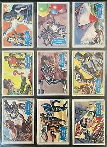 1966 Topps Batman Series B Blue Bat COMPLETE SET 44/44 Very Nice Collection