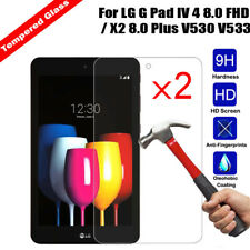 2x Tempered Glass Screen Protector For LG G Pad IV 4 8.0 FHD / X2 Plus V530 V533