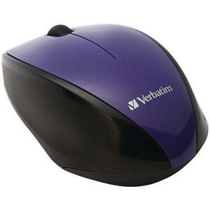 Verbatim 97994 Wireless Multi-Trac Blue LED Optical Mouse (Purple)
