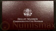 1999 Dolley Madison Commemorative Proof Silver Dollar