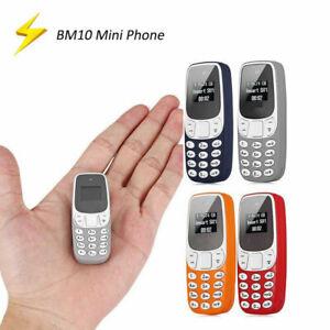 Mini MOVIL BM10 bolsillo pequeño teclado de teléfono celular GSM Doble SIM